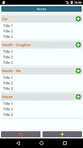 screenshot of Notes, To-Do list Lt. version 1.6.3