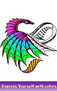 screenshot of Dragons Color by Number - Animals Coloring Book version 1.1