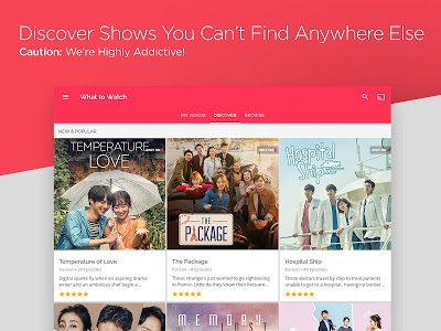 screenshot of DramaFever: Stream Asian Drama Shows & Movies version 01.01.68