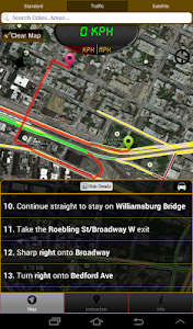 screenshot of Driving Route Finder version 1.1
