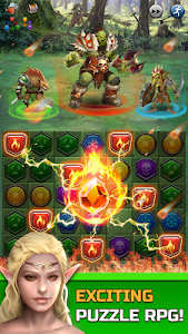 screenshot of Dungeon Puzzles: Match 3 RPG version 1.0.0