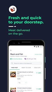 screenshot of Dunzo | Delivery App for Food, Grocery & more version 3.6.0.5