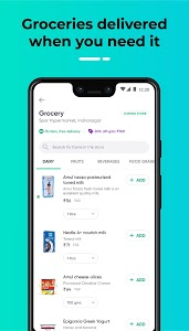 screenshot of Dunzo - 24X7 Delivery: Grocery, Food, Packages version 2.0.0.2