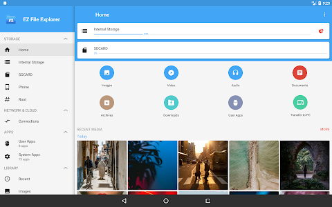 screenshot of EZ File Explorer: Easy File Manager (File Browser) version 1.7.12