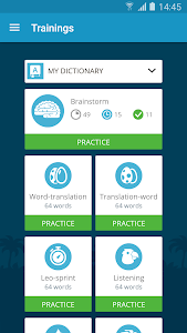 screenshot of English with Lingualeo version 2.5.5.4