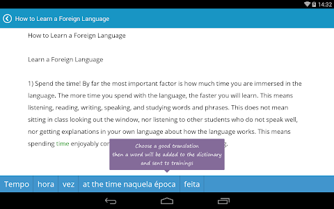screenshot of English with Lingualeo version 2.4.4