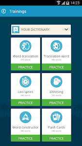 screenshot of English with LinguaLeo version 2.2.4