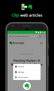 screenshot of Evernote version Varies with device