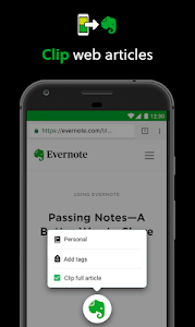 screenshot of Evernote - Notes Organizer & Daily Planner version Varies with device