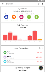 screenshot of Expense IQ Money Manager version Varies with device