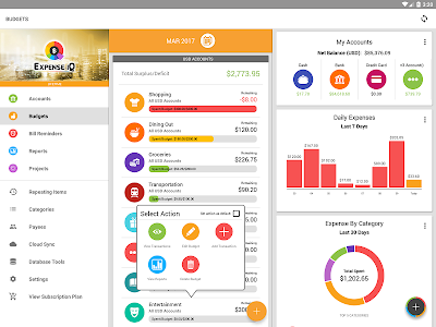 screenshot of Expense IQ Money Manager version 2.0.3