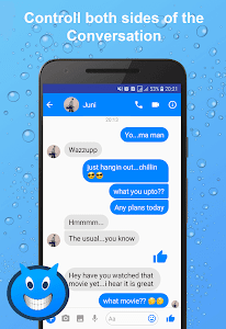 screenshot of Fakenger - Fake chat messages version 1.4.0
