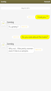 screenshot of Faketalk - Chatbot version 2.1.0