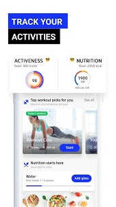 screenshot of Fitwell - 30 Day Fitness Workout Diet Step Counter version 3.3.2.13
