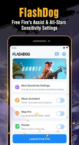 screenshot of FlashDog - Booster & Pro Sensitivity for Free Fire version 1.3.4