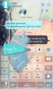 screenshot of Free Glass GO Keyboard Theme version 3.3