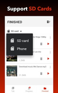 screenshot of Free Video Downloader version 1.0.8