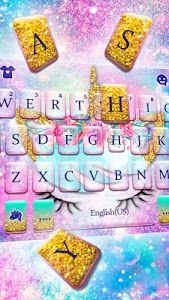 screenshot of Galaxy Flower Unicorn Keyboard Theme version 1.0