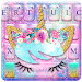 Galaxy Flower Unicorn Keyboard Theme