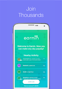 screenshot of Earnin - Get Paid Today version 8.0.3