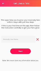 screenshot of Get fans for Musically - like & Followers version 1.0