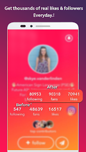 screenshot of Get fans for tik musically tok like and follower version 1.1