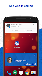 screenshot of GetContact русском Pro Guide 2018 version 0.0.1
