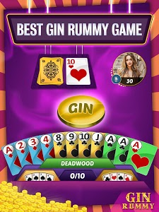 screenshot of Gin Rummy Online - Multiplayer Card Game version 12.6