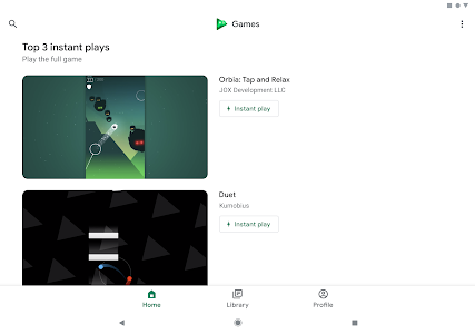 screenshot of Google Play Games version Varies with device