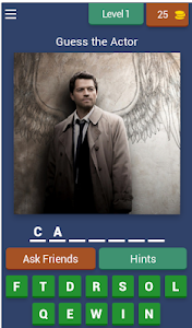 screenshot of Guess the Actor from SUPERNATURAL version 4.1.0z