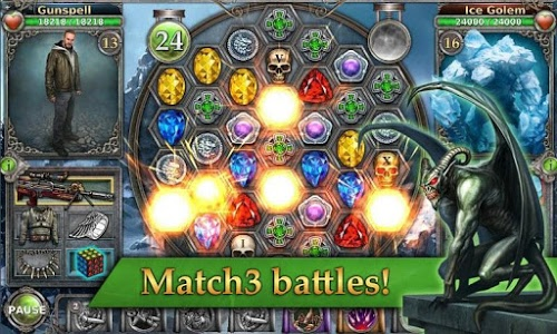 screenshot of Gunspell - Match 3 Battles version 1.6.35