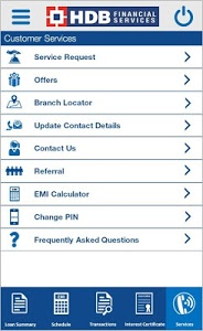 screenshot of HDB Financial Services OnTheGo version 2.4.1