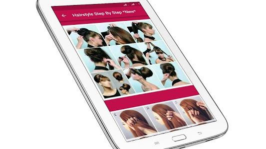 screenshot of Hairstyle Changer App Girl Step by Step 2019 Image version 2.9.256