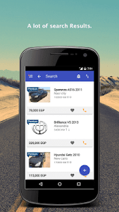 screenshot of Hatla2ee - new and used cars for sale version 2.6.8