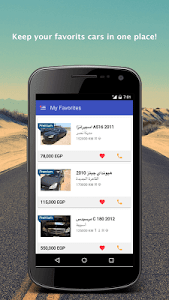 screenshot of Hatla2ee - used car for sale version 2.1.7