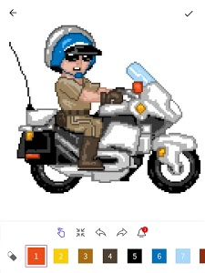 screenshot of InDraw - Color by Number Pixel Art version 7.1.3935