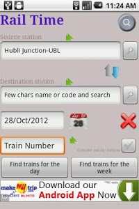 screenshot of IndianRailway Offline TimeTabl version Varies with device