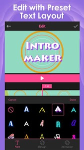 screenshot of Intro Maker for YouTube - music intro video editor version 1.8.9