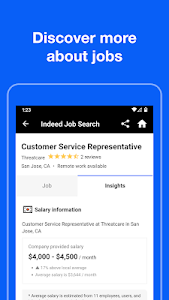 screenshot of Indeed Job Search version Varies with device