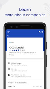 screenshot of Jobs Search and Employment - OCCMundial version 4.2.0