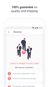 screenshot of Joom version Varies with device