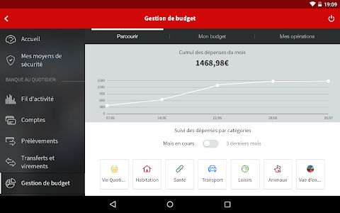 screenshot of L'Appli Société Générale version Varies with device
