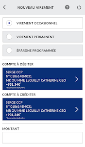 screenshot of La Banque Postale version Varies with device