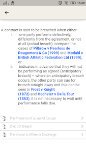 screenshot of Law Made Easy! Contract Law version 9.0