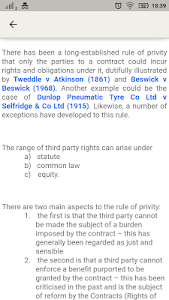 screenshot of Law Made Easy! Contract Law version 6.0