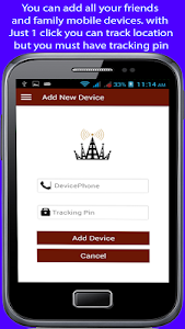 screenshot of Mobile tracking version 1.4.8