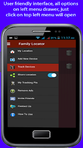 screenshot of Mobile tracking version 1.7.5