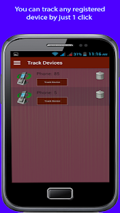 screenshot of Mobile tracking version 1.1.8