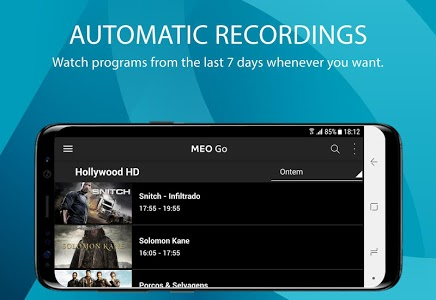 screenshot of MEO Go version Varies with device