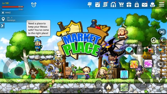 screenshot of MapleStory M - Open World MMORPG version 1.4200.566